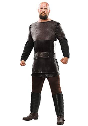 Disfraz Vikings Ragnar Lothbrok para hombre, talla grande - negro - 3X