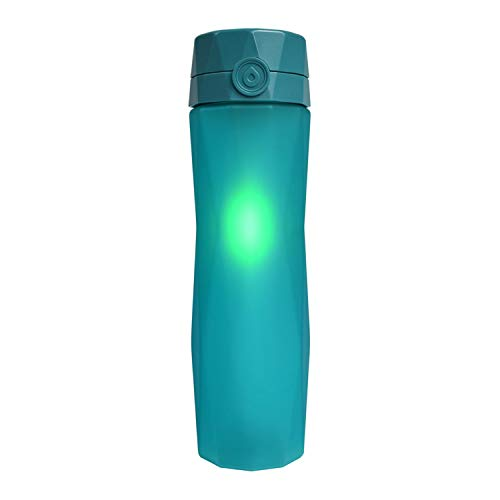 Hidrate Spark 2.0A Smart Water Bottle - New & Improved - Tracks Water Intake & Glows to Remind You to Stay Hydrated (Teal)