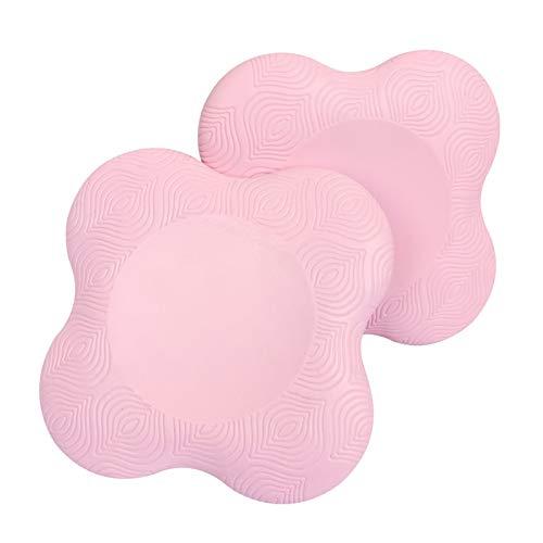 NON 2X Rodilleras cuadradas Almohadilla portátil para Codo para Yoga Ejercicios de Suelo Ejercicio Pilates Limpieza de jardinería - Rosa