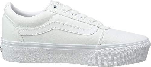 Vans Damskie tenisówki na platformie Ward Platform, Białe płótno białe 0rg - 41 EU