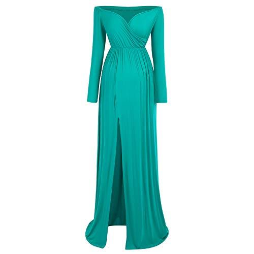 IBTOM Castle - Vestido para embarazo, para maternidad, vestido largo de algodón,...