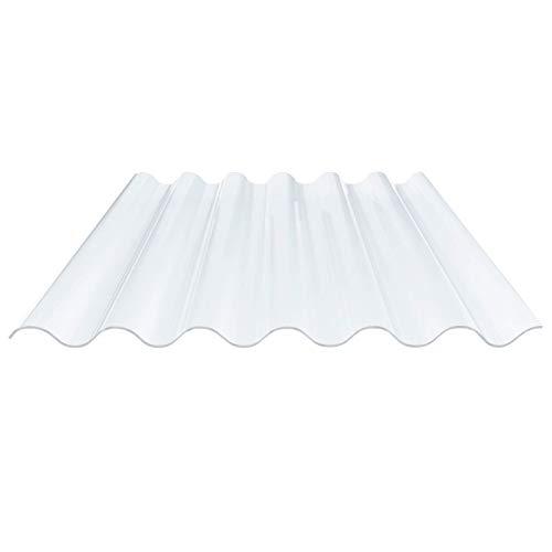 Lichtplatte | Wellplatte | Lichtwellplatte | Profil 177/51 | Material PVC | Breite 1152 mm | Länge 3,10 m | Stärke 1,4 mm | Farbe Klarbläulich