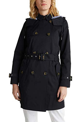 ESPRIT Damen 010EE1G309 Mantel, Schwarz (Black 001), Medium (Herstellergröße:M)