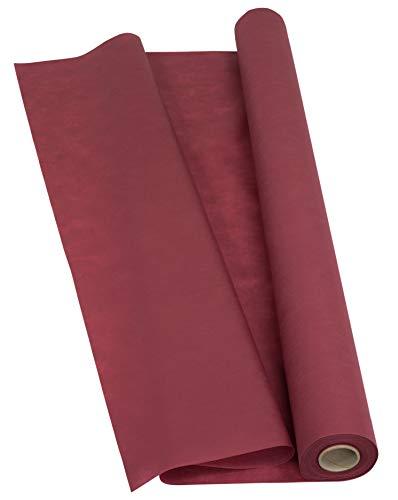 Sensalux Light Tischdeckenrolle, Oeko-TEX ® 100 - Made in Germany - 25m lang (Farbe nach Wahl), Bordeaux, 1,10m x 25m, stoffähnliches Vlies, ideal für Jede Party, Vereinsfeier, Geburtstagsfeier