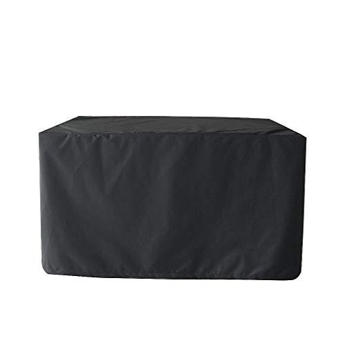 Funda para muebles de jardín, tela Oxford 210D, impermeable y resistente al viento, con bolsa de almacenamiento (123 x 123 x 74 cm), color negro