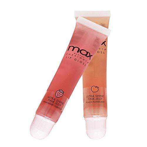 (18Pack) MAX Makeup Cherimoya Pink Jelly Strawberry Lip Gloss