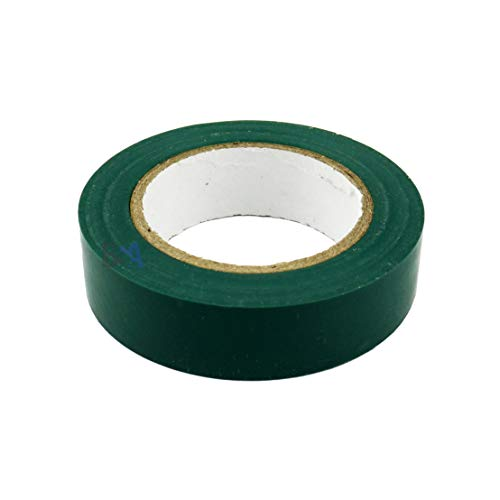 1 Nastro Isolante Verde 15mm x 10m x 0,15mm Irox PVC Autoestinguente IEC RoHS Adesivo elettrico elettricista 15x10 mm/m
