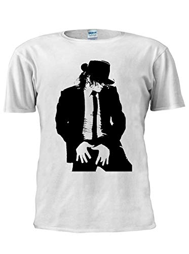 Michael Jackson T-Shirt Jackson Dance Legend Star Tee Unisex Trendy Herren T-Shirt Gr. M, weiß