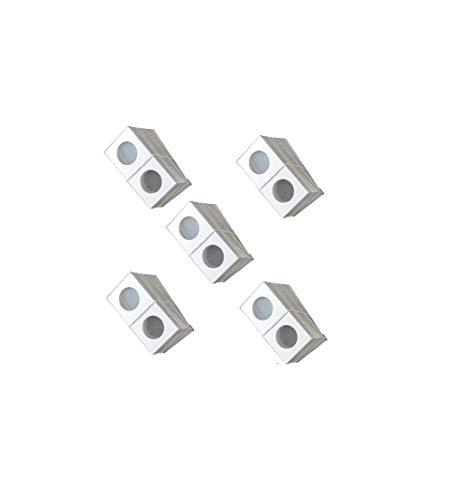 Guardhouse 2×2 Staple Paper Coin Holder for Quarter, 500 Pack