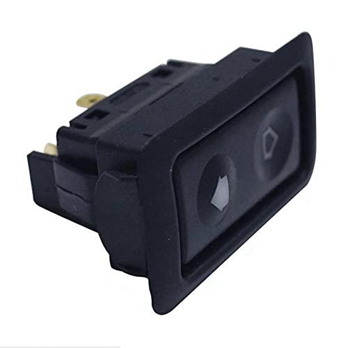 CJYSJK BotóN De Interruptor De Coche Interruptor de botón de la Ventana de energía eléctrica for Todos los Autos con el Interruptor de botón Verde la luz del Coche 12V / 24V Accesorios for el Coche