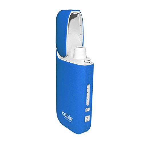 Cable Technologies Soft case für IQOS® 2.4/2.4 Plus Pocket Charger, weiche Schutzhülle für Soft Touch Silikon-Ladegerät, Abdeckung (Baby Blue)