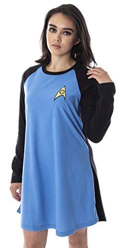Star Trek Original Series Women's Juniors Costume Raglan Sleep Shirt Nightgown Pajama Top (Spock, Large) -  Intimo, STK0038RGLW-LG