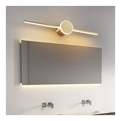 MJJ- Espejo de Baño con Iluminación LED Personalidad del espejo de cortesía LED luz delantera creatividad de tres colores de atenuación Lavabo Coffee Shop iluminación de la lámpara 【Nivel de energía A