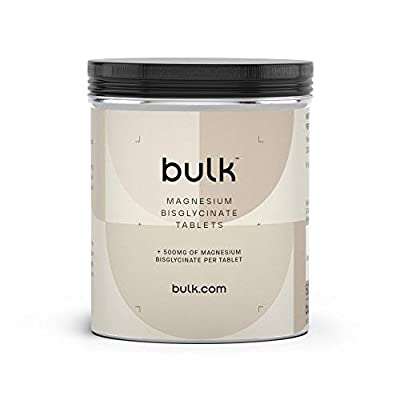 BULK POWDERS Magnesium Bisglycinate Tablets, 500 mg, Pack of 180