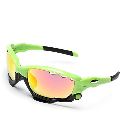 MINI SHOW Jawbone Sportbrillen, Winddichte Sonnenbrillen, Radsportbrillen für Herren, mit 3 Linsen, Fahren, Klettern, Angeln,C11