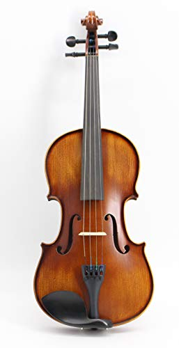 Music Fairy バイオリン MF002-3C 初心者向けセット:本体・弓・セミハードケース・駒・松脂・肩当て 4/4 3/4 1/2 1/4 1/8 Violin ヴァイオリン 大人用 初心者用 (4/4)