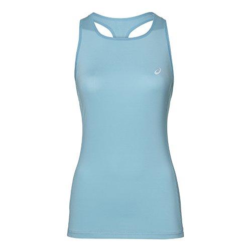 ASICS Tank Women Camiseta de Tirantes, Azul Claro,...