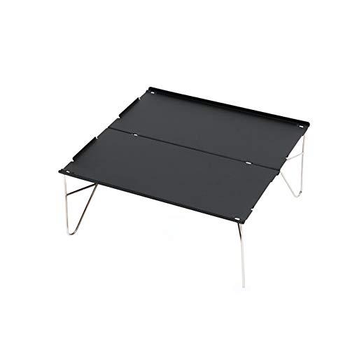 Vlook Mini Klapptisch, Outdoor-Aluminiumplatte Tisch, mit Verpackungsbeutel, tragbare wasserdichte Anti-Fouling, für Camping Strand Hinterhöfe BBQ Picknick