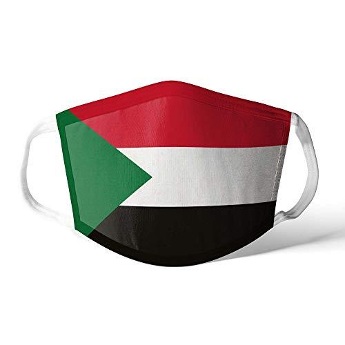 M&schutz Maske Stoffmaske Klein Afrika Flagge Sudan/Sudanese Wiederverwendbar Waschbar Weiches Baumwollgefühl Polyester Fabrik