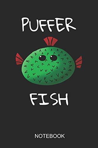Puffer Fish Notebook: A5 (6x9 in) Notizbuch I 110 Seiten I Punktraster I Pufferfish Journal für Kugelfisch Fans
