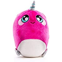 Squeezamals 3Deez Slow-Rise Foam Stuffed Animals (Narwhal-Jewel)