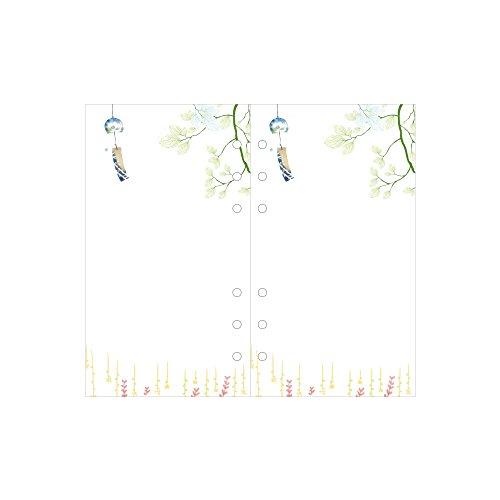 Jia Hu 1 pieza colorido papel de recambio 6 agujeros rellenables cuaderno insertos para carpeta de anillas agenda, color Bell A6