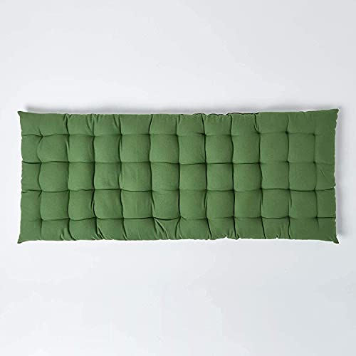 YIYI Cojín para asiento de banco de jardín de 2 plazas, cojín rectangular suave, funda de repuesto para muebles de algodón grueso y cómodo