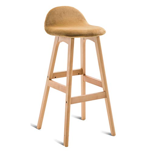 Chaise de bar tabouret de bar en bois massif tabouret haut élégant chaise en bois de bar tabouret de bar de table arrière chaise haute de magasin de thé durable (Color : F)