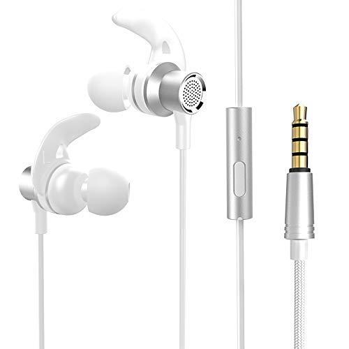 mächtig der welt ONX3® weiße 3,5-mm-In-Ear-Kopfhörer mit integriertem Mikrofon und Lautstärkeregler usw.