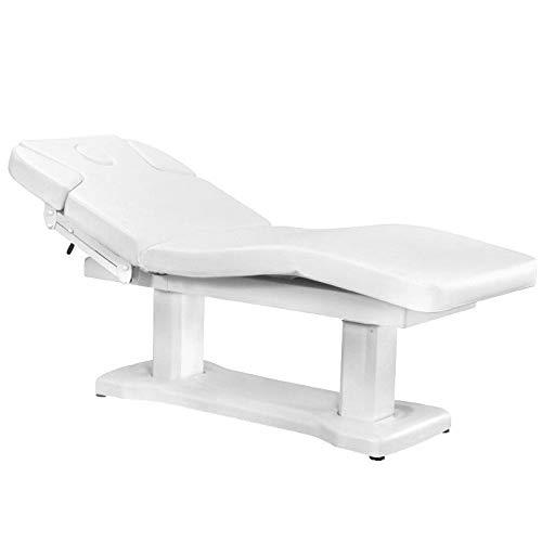 Activeshop Kosmetikliege Massageliege Massagetisch Massagestuhl Elektrish 818a mit 4 Motoren Weiss bis 200 kg belastbar Premium-PU-Leder