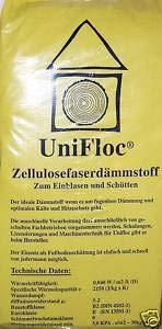 Unifloc Zellulosedämmung als Fußbodenschüttung Sack 14 kg
