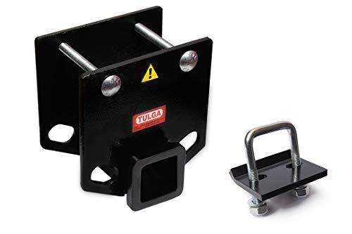 Rv Bumper Hitch Receiver 2 inch with Anti Rattle Hitch Tightener for 4x4 inch Bumper Bars Trailer...