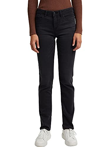ESPRIT Damen 110EE1B305 Jeans, 911/BLACK Dark WASH, 34/32
