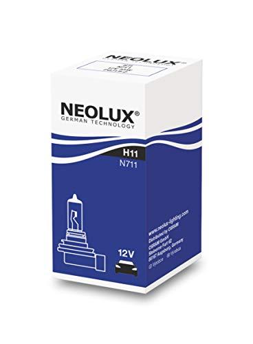 NEOLUX Standard H11 Phare Halogène pour Voiture et Moto N711 3200K 12V 55W Boîte pliante (1 ampoule)