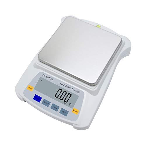 LICHUXIN Báscula Digital Básculas joyería 5 kg 0.01g Conteo analítico de Alta precisión LCD Laboratorio retroiluminado Básculas multifuncionales (Capacity : 5kg/0.01g)