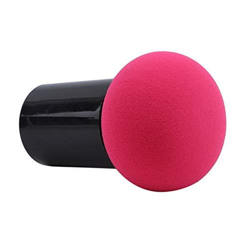 FGJFJ Pinceau Éponge Correcteur Tête de Champignon Fond de Teint Crème Liquide Pinceaux Cosmétiques,rose rouge