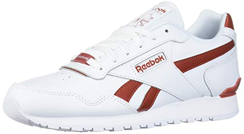 Reebok Men's Classic Harman Run Sneaker, White/Mason Red, 10 M US