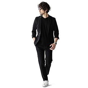 [ナノユニバース] スーツ ダメリーノハイテンションカノコセットアップ メンズ M ブラック
