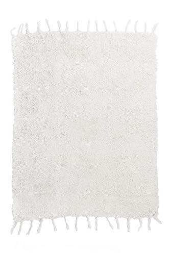 Jarapa Home Alfombra natural hecha a mano de pelo largo algodón reciclado...