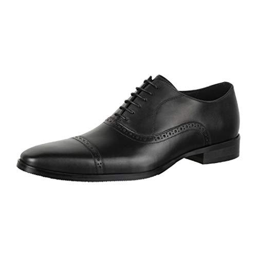 Elara Herren Leder Schuhe Business Schnürschuhe Chunkyrayan RL2205-3 Noir-41