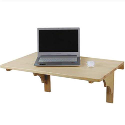 TYZXR Einfacher klappbarer Computer Esstisch für das Büro Wandmontierter Klapptisch mit 2 Halterungen Massivholz Klappbarer Laptop-Schreibtisch Ablage für kleine Räume Mehrfachgröße Opti