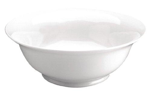 Olympia Whiteware Saladiers en Porcelaine Blanche 200mm - Vaisselle Plat de Service avec Bords Roulés - Va au Lave Vaisselle - Paquet de 6