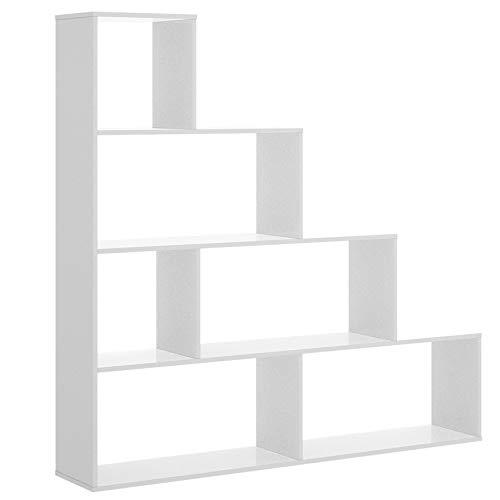 HABITMOBEL Estantería Decorativa Acabado Blanco Brillo, Medida 145 x 145 x 29...