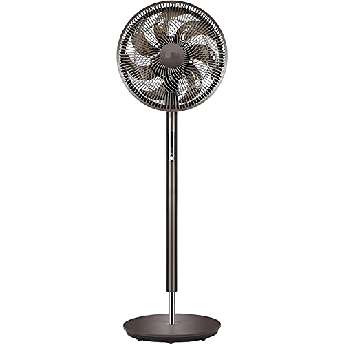 ZXQC Ventilador De Pedestal Oscilante De 14 Pulgadas, Ventilador De 6 Velocidades con 7 Cuchillas, Control Remoto Y Temporizador (Color : Brown)