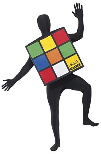 Smiffy'S 33663 Disfraz Unisex Del Rubik'S Cube, Multicolor, Tamaño Único