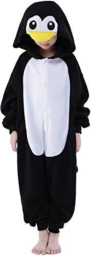 LATH.PIN Tierkostüm Schlafanzug Karnevalskostüme Faschingskostüme Tier Jumpsuits für Kinder Jungen Mädchen (Pinguin, XL/115(Für Höhe 130-140cm))