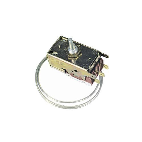 Thermostat Kühlthermostat Kühlschrank Kühlgerät mit eingeschäumtem Verdampfer Ranco K59-L2091 650mm Kapillarrohr 3x6,3mm AMP kompatibel mit Siltal Sogedis 61978