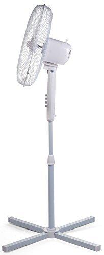 2x Igenix DF1655Pedestal Oscillating 3-speed fan con rete di sicurezza, ca. 40,6cm, 40W, bianco