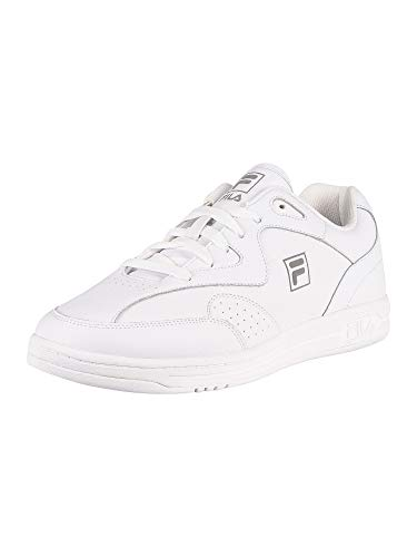 Fila Men's MSL Tennis Leather Trainers, White, 10 US