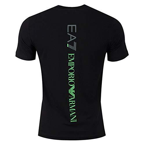 Emporio Armani Camiseta para hombre EA7 3GPT08 PJ03Z, manga corta, cuello redondo